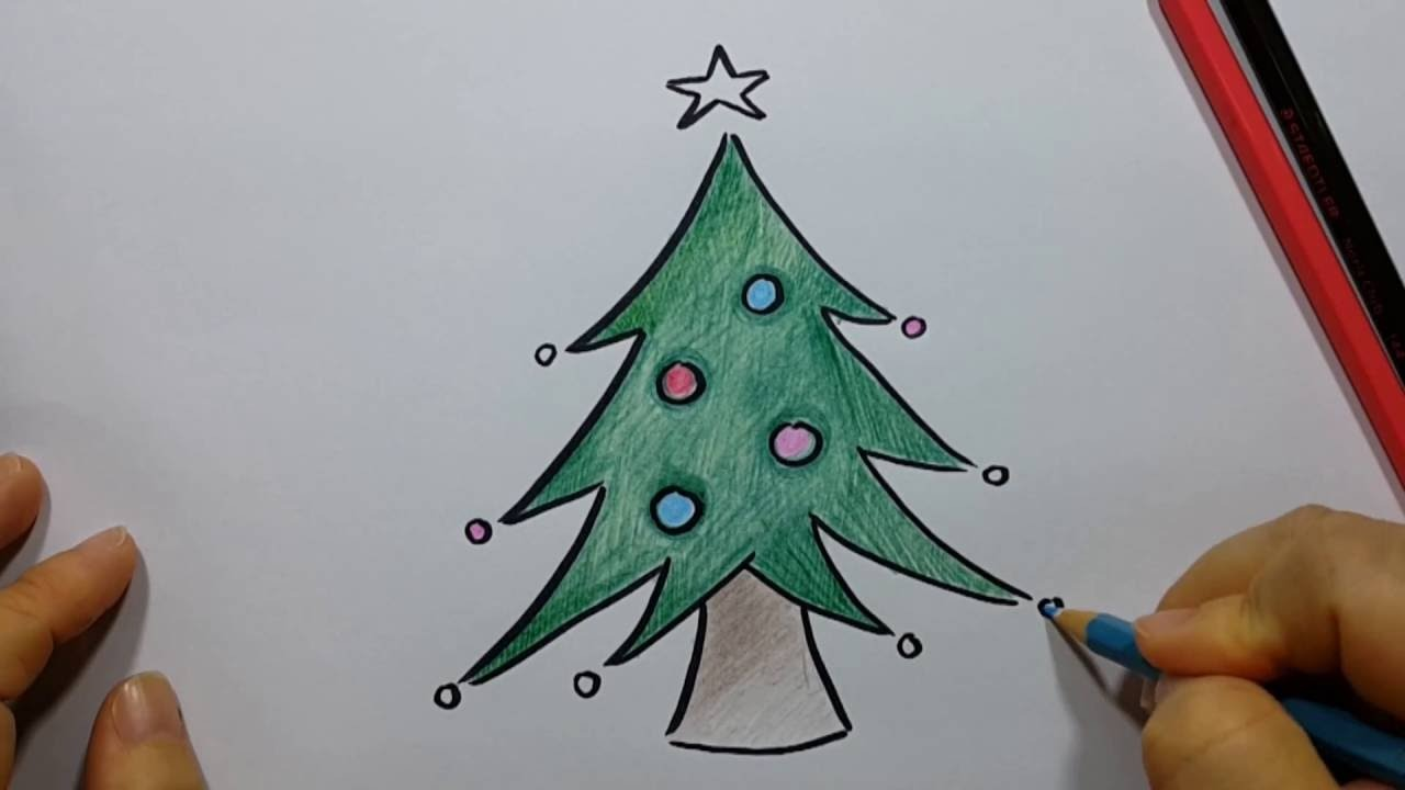 1280x720 How To Draw Christmas Tree Easy And Fun!! Youtube For Easy