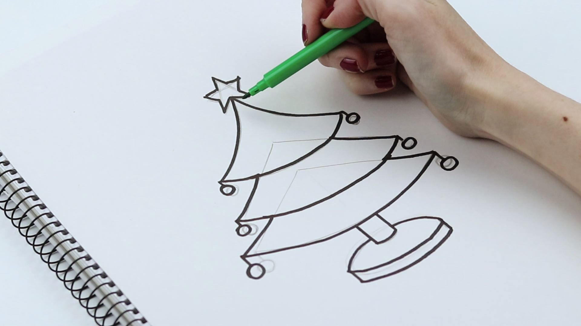 1920x1080 How To Draw Christmas Trees (With Pictures)