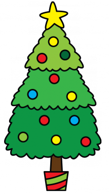 215x382 How To Draw A Christmas Tree, Easy Step By Step Drawing Tutorial