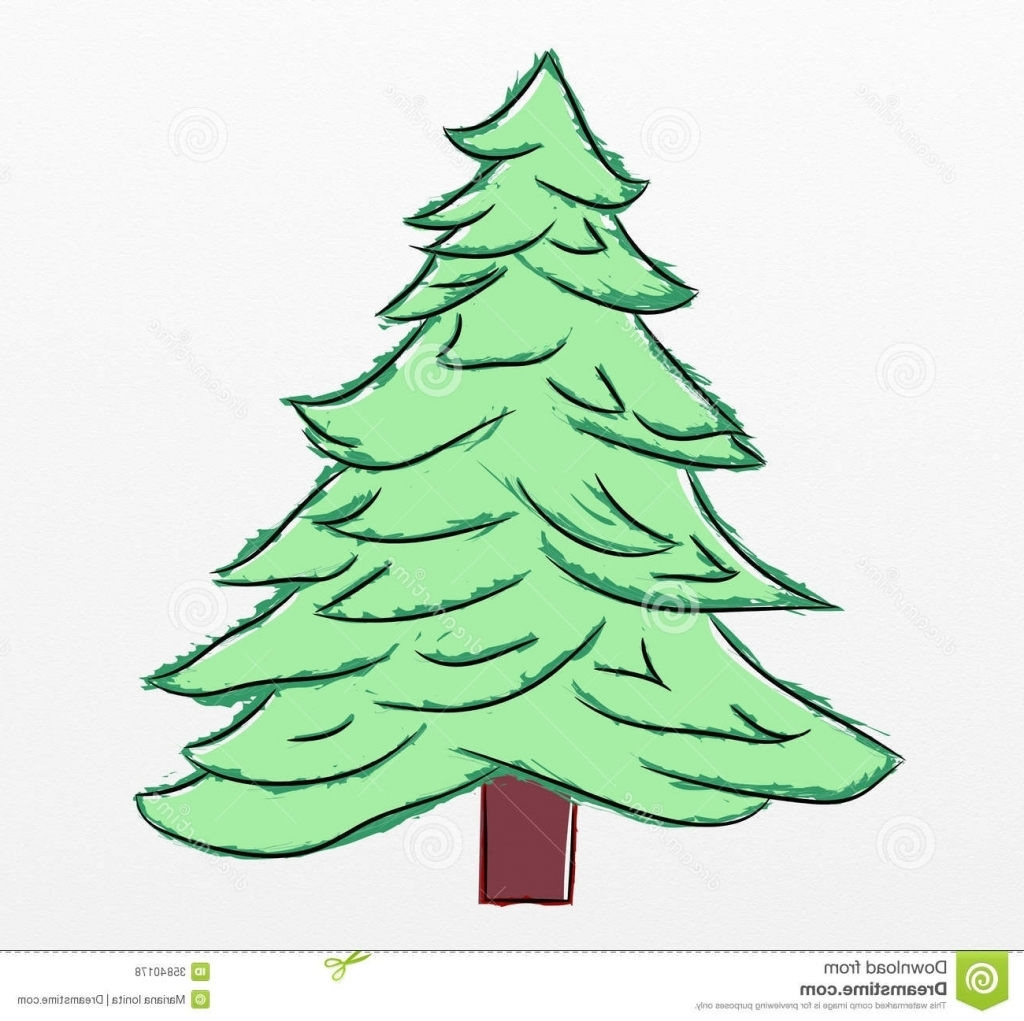 Christmas Tree Drawing at GetDrawings.com | Free for personal use ...