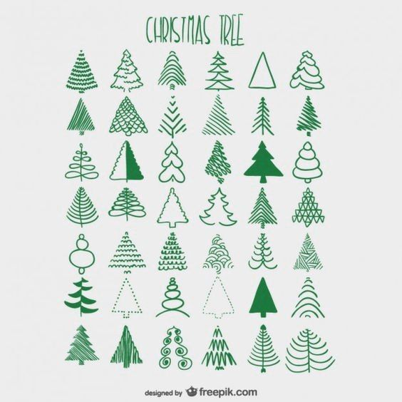 564x564 Use As Colouring Guide For Xmas Tree Punch, Instead Of Stamping