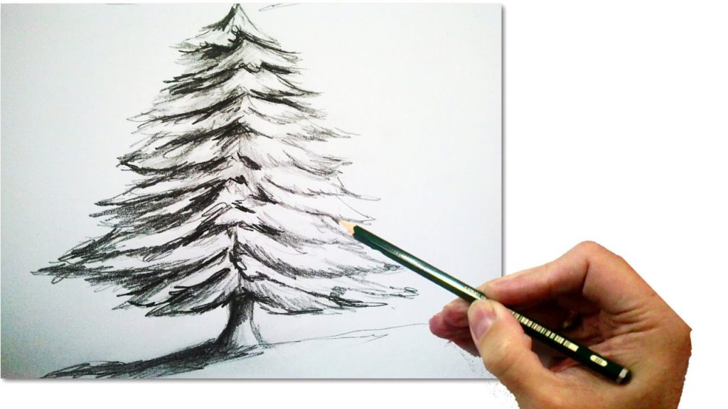Christmas Tree Drawing Easy At Getdrawings Com Free For Personal