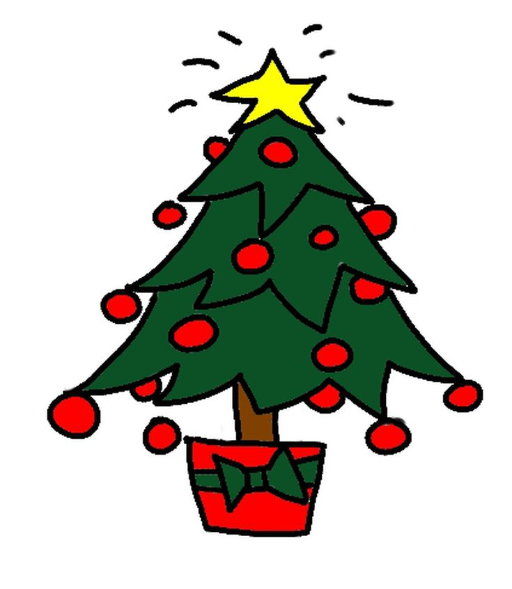 735x846 Draw A Christmas Tree A Step By Step Guide Step Guide, Trees
