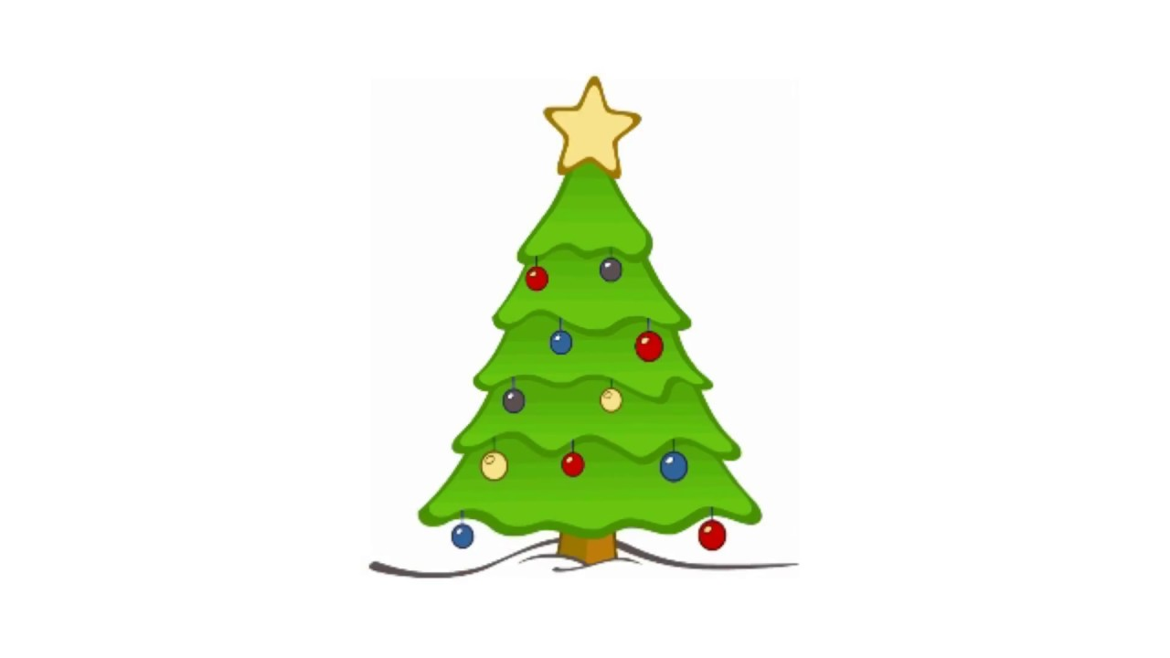 1280x720 How To Draw And Color Christmas Tree Drawing And Coloring