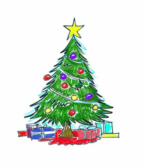 550x643 Sumptuous Design A Christmas Tree Miracle Shop Song Cartoon Farm
