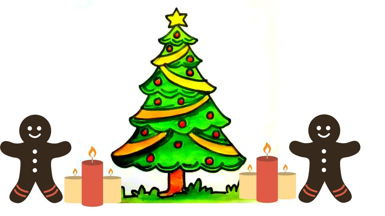 Christmas Tree Drawing For Kids at GetDrawings.com | Free for ...