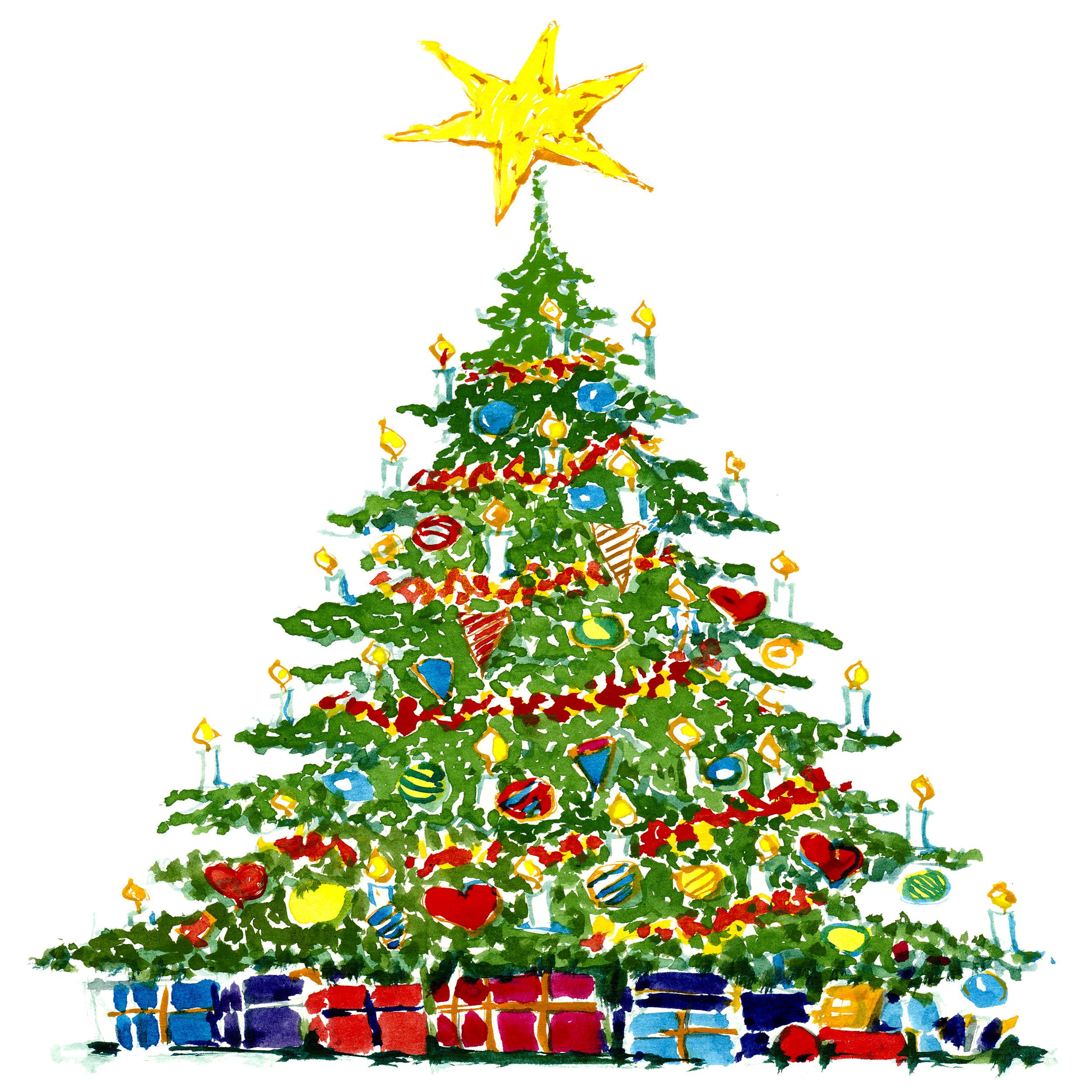 Christmas Tree Drawing Image at GetDrawings.com | Free for personal ...