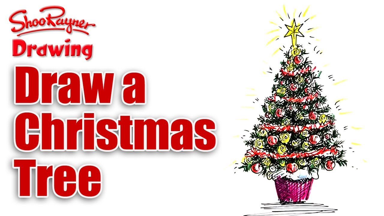 1280x720 How To Draw A Christmas Tree
