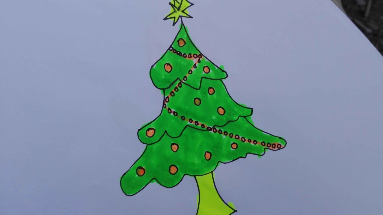 Christmas Tree Drawing Realistic at GetDrawings.com | Free for ...