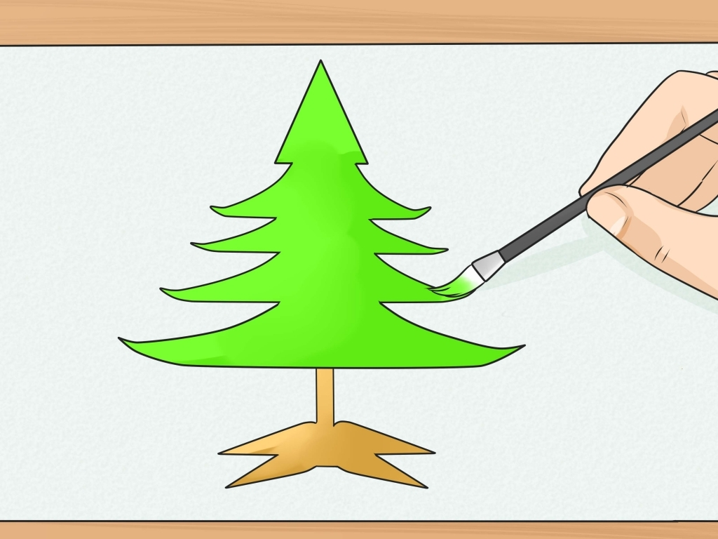 Christmas Tree Drawing Steps at GetDrawings.com | Free for personal ...