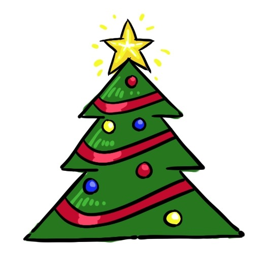 Easy Draw Christmas Tree