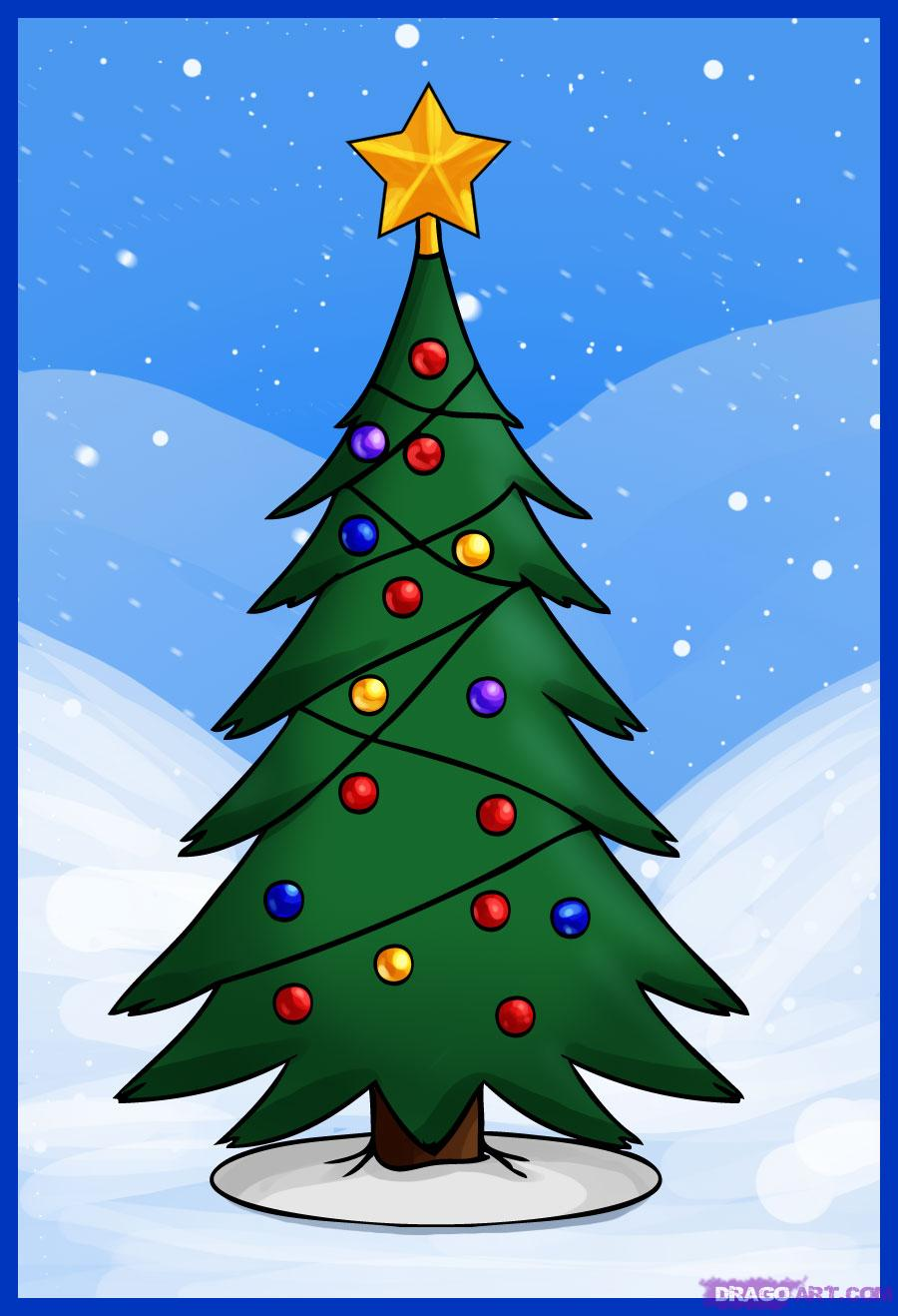 900x1318 How To Draw A Simple Christmas Tree, Step By Step, Christmas Stuff