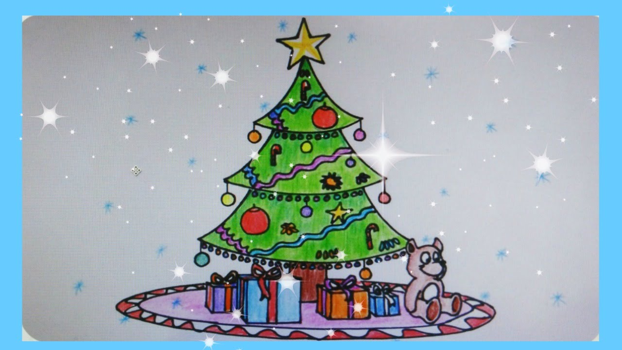 1280x720 How To Draw A Beautiful Christmas Tree
