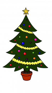 215x382 How To Draw Christmas Tree, Christmas, Holidays, Easy Step By Step