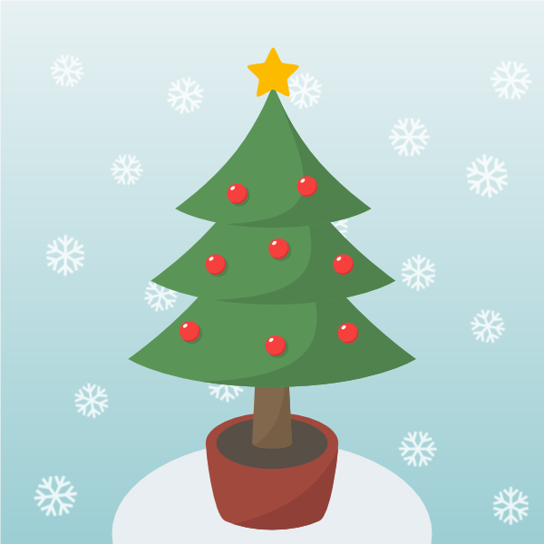 600x600 How To Draw A Christmas Tree In Inkscape Goinkscape!