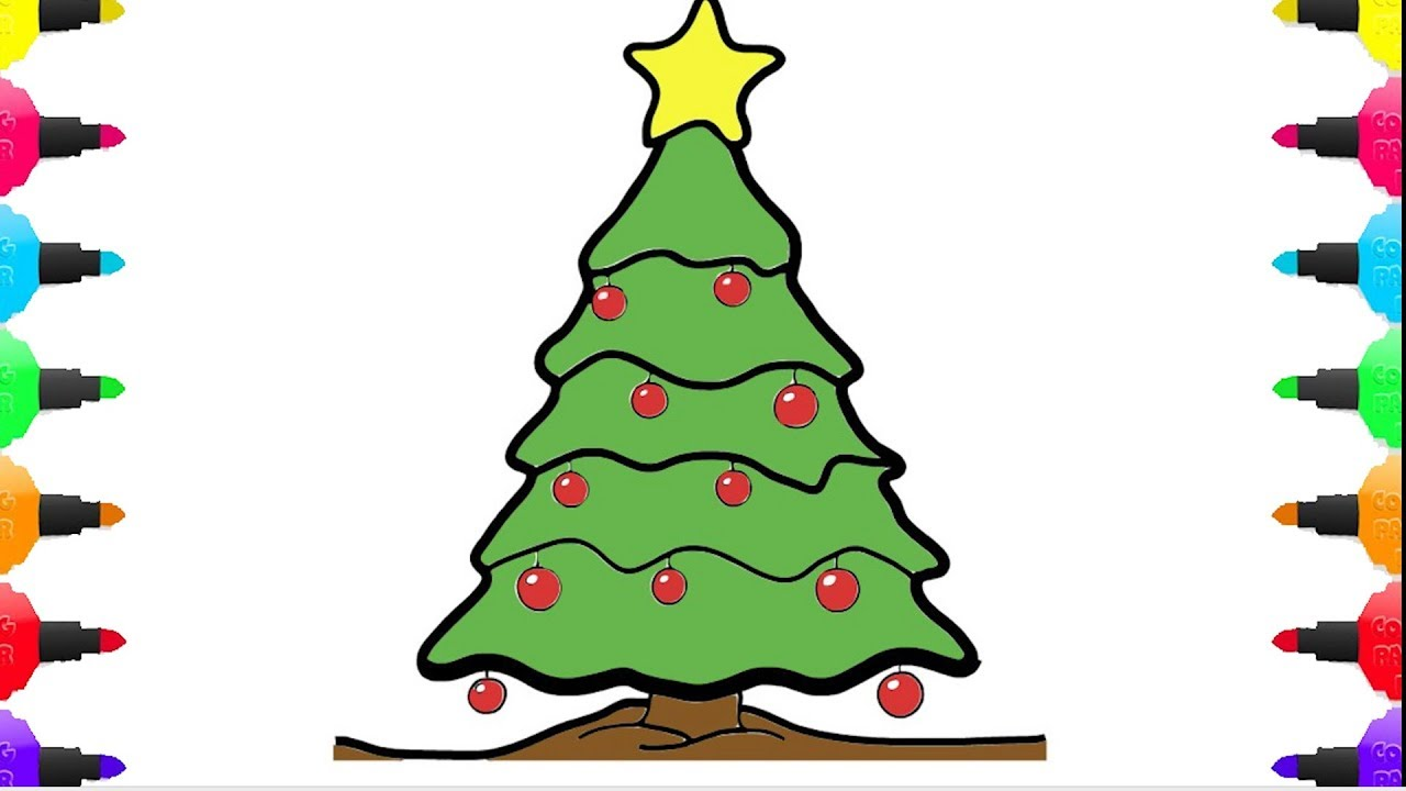 Christmas Tree Simple Drawing at GetDrawings.com | Free for personal ...
