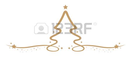 450x197 Christmas Tree Drawing Line Stars Royalty Free Cliparts, Vectors
