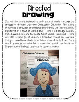 271x350 Christopher Columbus Directed Drawing By Colleen Alaniz Tpt