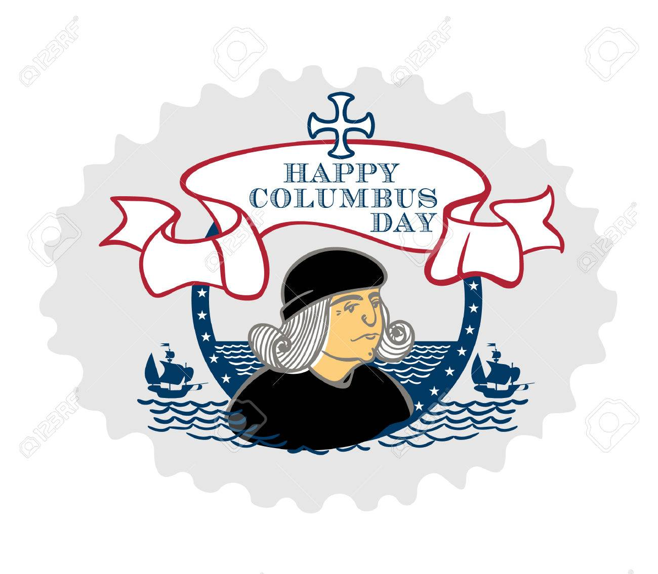 1300x1135 Portrait Of Christopher Columbus, A Stylized Drawing Of A Hand