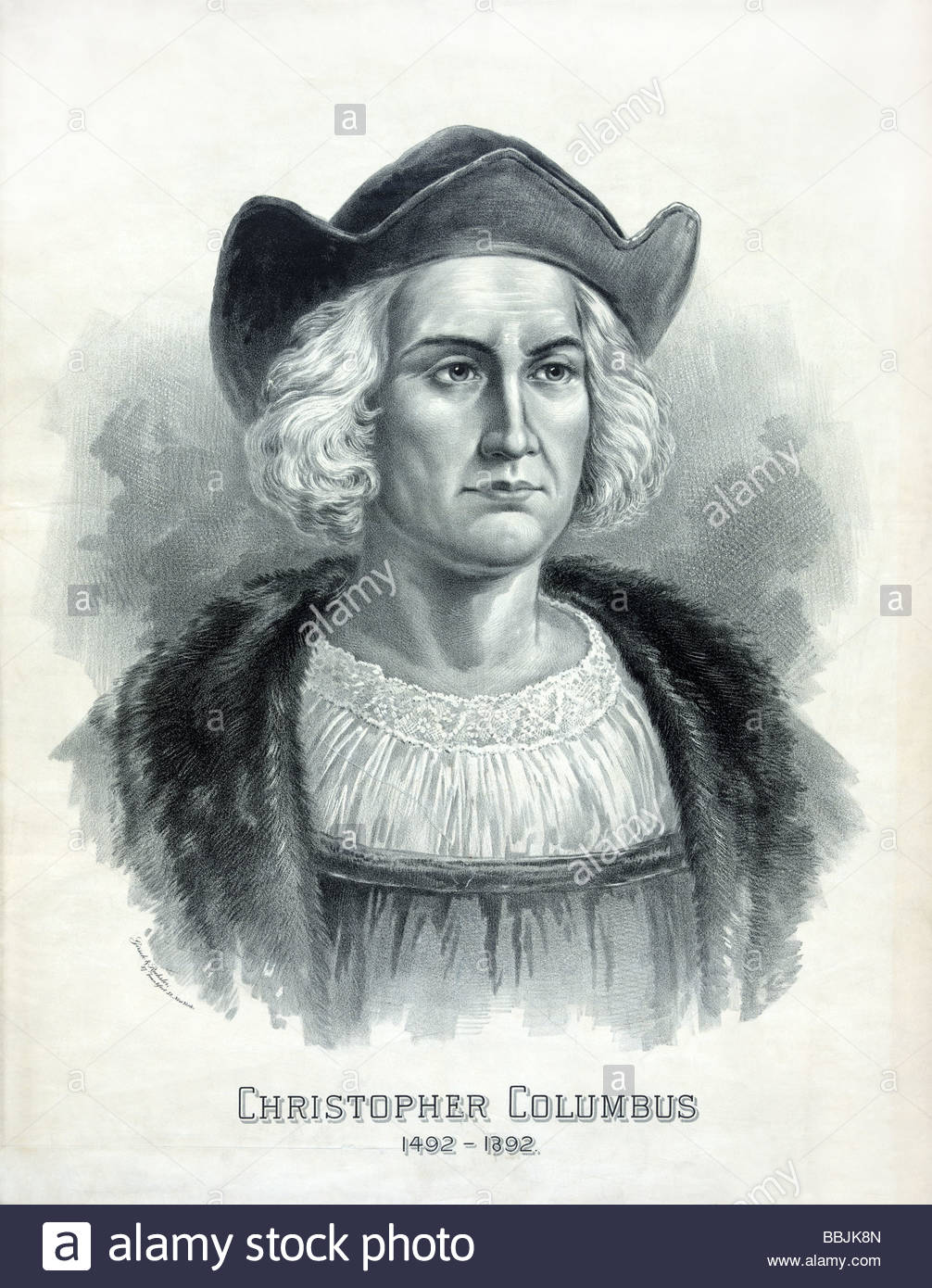 1006x1390 Portrait Of Christopher Columbus Published C1892 By Girsch