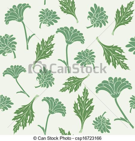 450x470 Seamless Pattern Chrysanthemums. Seamless Pattern