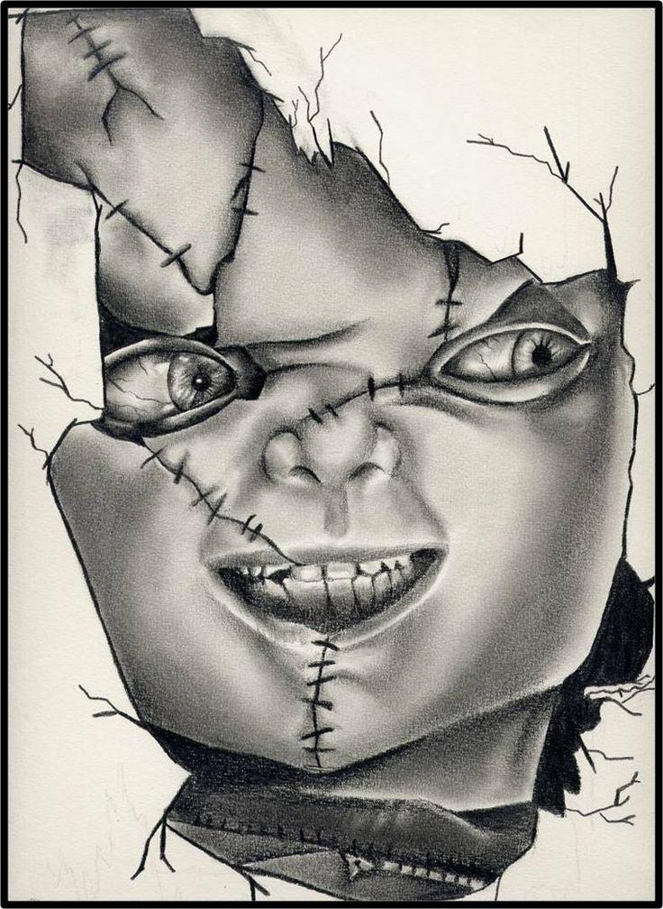 736x1008 Bildergebnis Chucky Drawings In Pencil Art