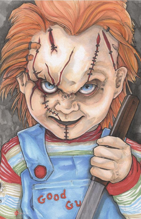 600x927 Child's Play Chucky By Chrisozfulton