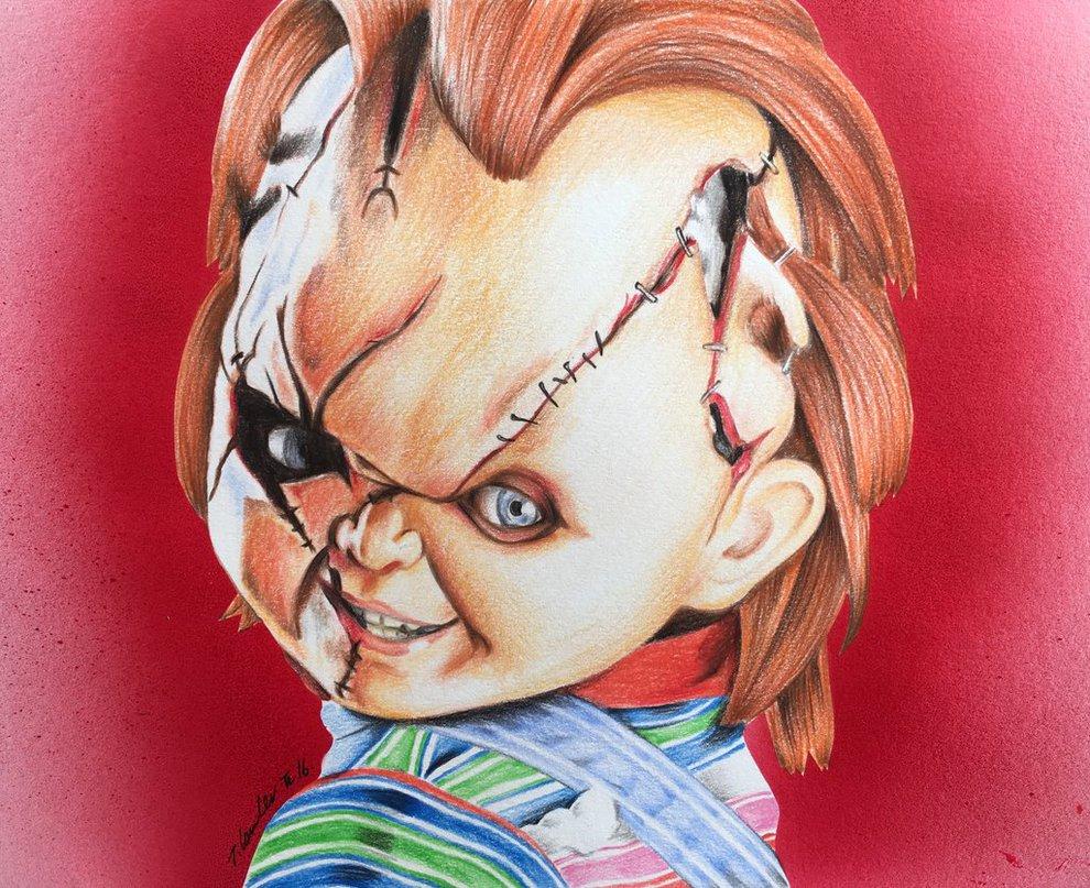 990x807 Chucky Art Pencil Drawing By Billyboyuk