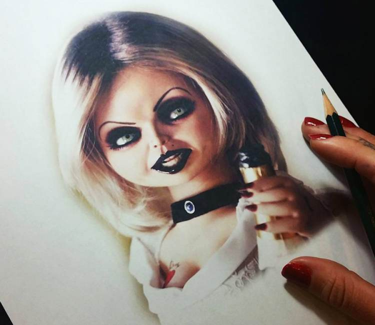 750x650 Chucky Drawing By Andrea Morales Post 17654