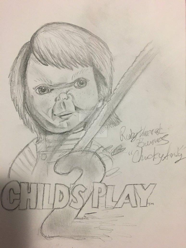 774x1032 Chucky Drawing By Chuckyandy