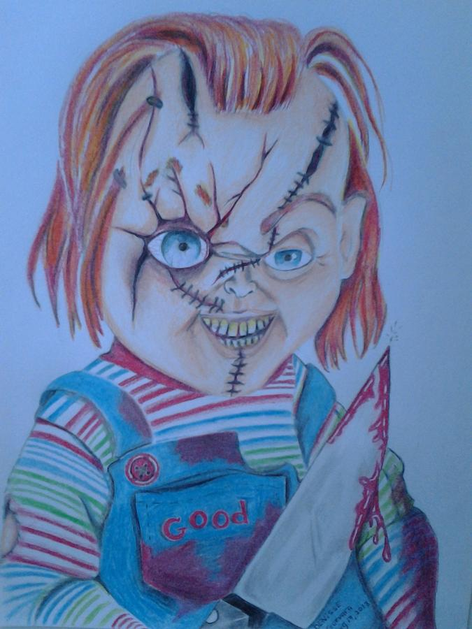 675x900 Hi I'Am Chucky Wanna Play Drawing By Denisse Del Mar Guevara