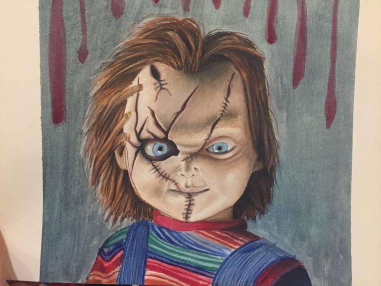 770x578 Saatchi Art Chucky Drawing Drawing By Mario Orta