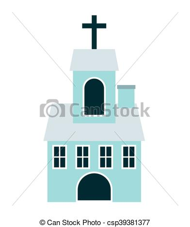 392x470 Church Building Isolated Icon Vector Illustration Design Vectors