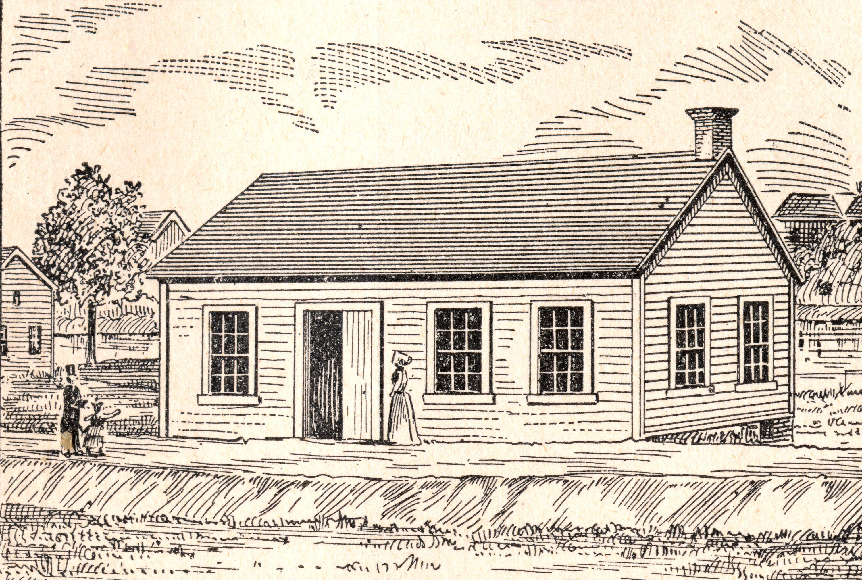 3000x2018 Drawing Of Trinity Lutheran Church Building In Milwaukee In 1848