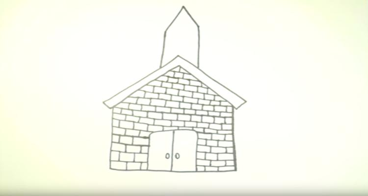 750x400 How To Draw A Church Prepare To Serve