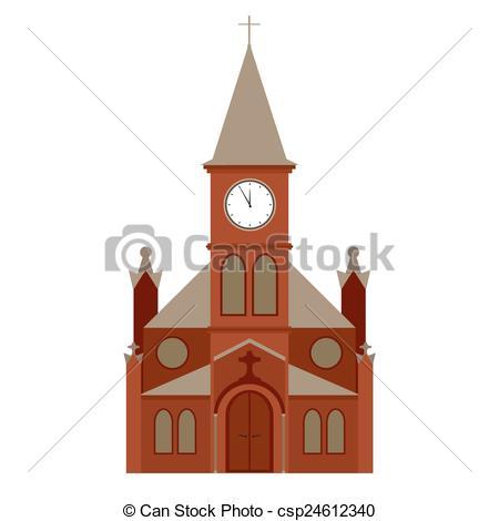 450x470 Vector Church Building, Christian Religion Icon Eps Vector
