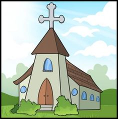 236x238 Drawing A Cartoon Church Churches, Cartoon And Drawings
