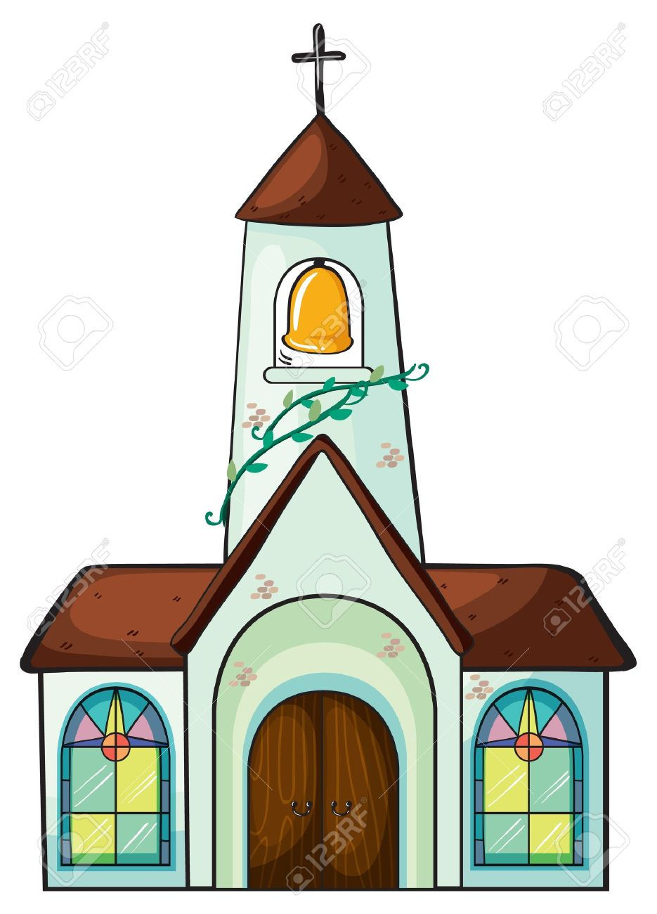 935x1300 Illustration Of A Church On A White Background Royalty Free