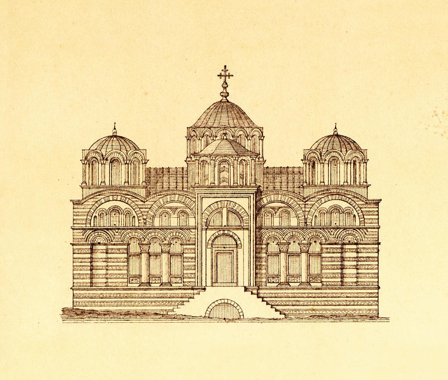 900x763 Pammakaristos Byzantine Church In Constantinople Drawing By Pictus