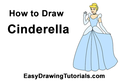 500x315 How To Draw Cinderella (Full Body)