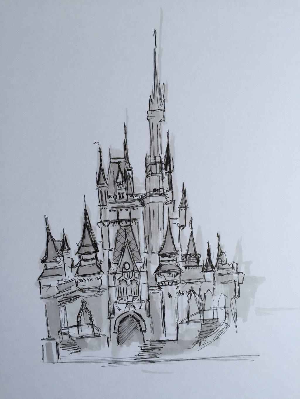 1024x1365 Castle Sketch By Monkeygareth