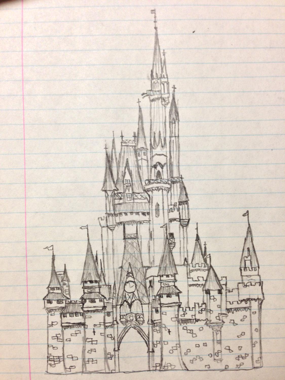 1125x1500 Cinderella Castle Drawing Cinderella Castle Sketch