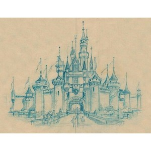 300x300 Cinderella Castle Drawing Disney My Favorite Place On Earth