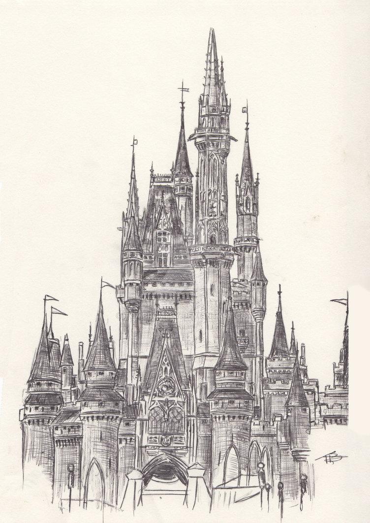 752x1063 Walt Disney World Cinderella's Castle By Tombromley