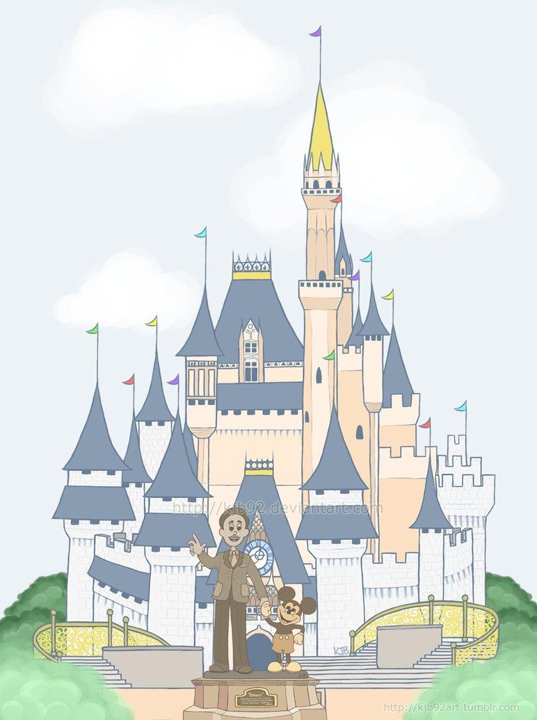 772x1035 Florida Cinderella's Castle Doodle