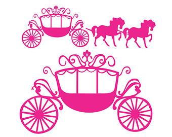 340x270 Cinderella Carriage Svg Etsy