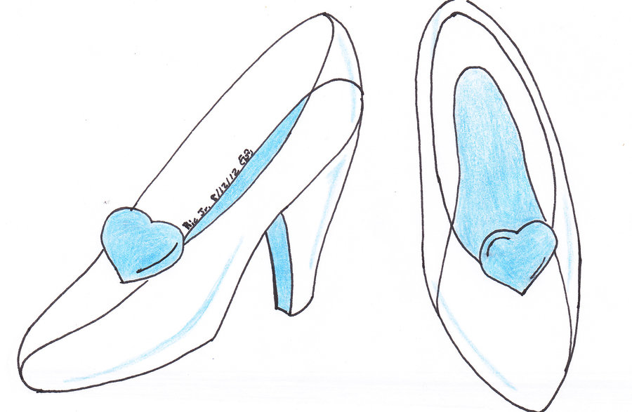 Cinderella glass slipper drawing at free for Glass slipper coloring page