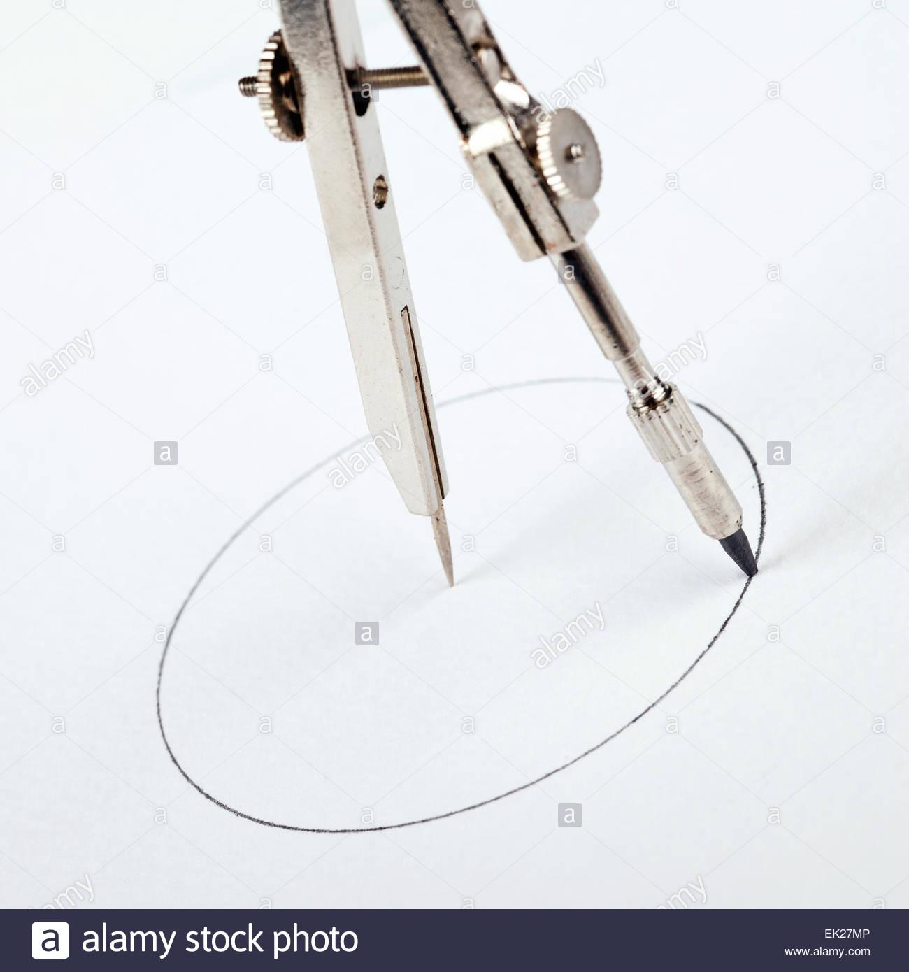 1300x1390 Pair Of Compasses Drawing Circle Stock Photo 80569910