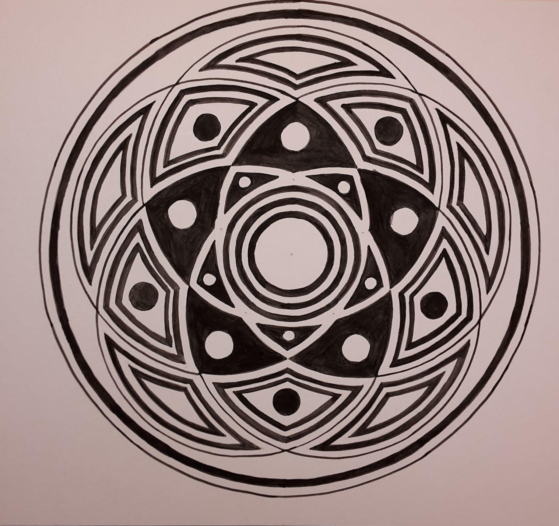 1836x1729 5 Circles In Harmony Geometric Design