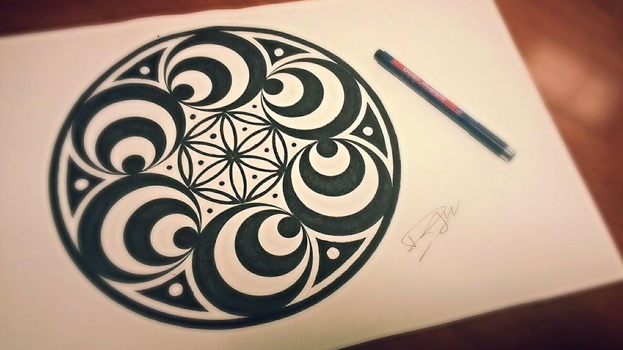 1280x720 Doppler Effect Mandala How To Draw Geometric Art